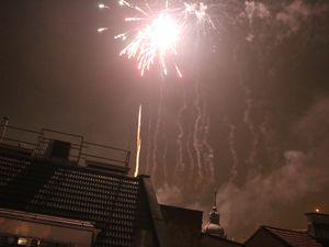 Nouvel an en Autriche : les feux d'artifices.