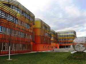 Un exemple d'architecture moderne à Vienne.