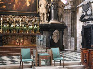Notre guide le Dr. Saliger et la cathédrale