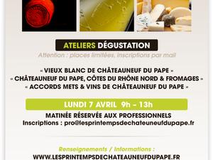 """Retrouvez-nous au Salon des Vins """"Les Printemps de Châteauneuf-du-Pape"""" le 7 Avril 2014 de 9h à 13h à la Salle Dufays à Châteauneuf-du-Pape - Stand A 12"""