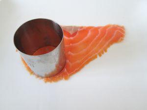 Médaillons saumon fumé avocat fromage frais