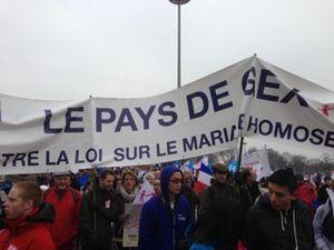 Un immense bravo pour la mobilisation de l'Ain   contre le projet de loi Taubira à Paris le 24 mars