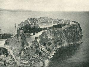 Le Rocher de Monaco en 1890. Vue de Monaco vers 1890-1900