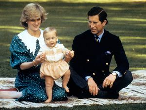 Famille de la Reine (1950) - Diana, William et Charles en NZ