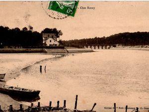 """Carte postale """"Chez J.-H. Rosny Jeune"""" à Hossegor (différentes versions)"""