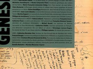 "Jean-Michel Pottier ""J.-H. et Marie Rosny, un  journal conjugal. Le Cahier 1900-1907"" in Genesis n°32 : Journaux personnels (2011)"