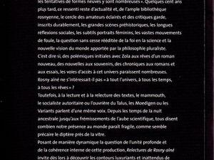 "Collectif ""Un seul monde. Relectures de Rosny aîné"" (P.U. de Valenciennes - 2010)"