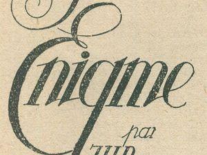 """J.-H. Rosny aîné """"La Grande énigme"""" in Lectures pour tous (août 1920)"""