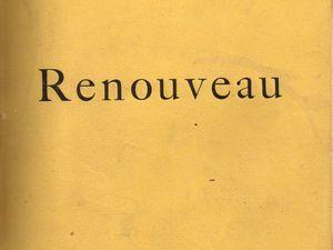 """J.-H. Rosny """"Renouveau"""" (Plon - 1894) [Dédicacé]"""