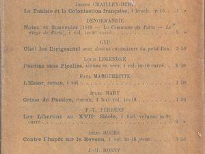 """J.-H. Rosny aîné """"Un Double Amour"""" (Léon Chailley - 1896) [version 1]"""