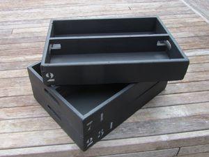 2013041212 - Casier en bois gerbable, peint et vernis en acrylique, numérotation pochoir au choix, 15€ + 9 € de port