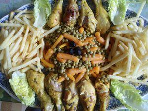 Du poulet avec frites