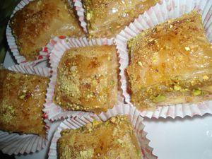 Baklava amande pistache