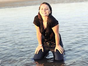 Enterrement de vie de jeune fille sur la plage d 'Hardelot