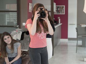Les filles en pleine séance photo