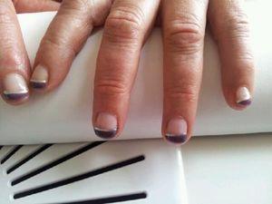 Même si il nous arrive d'avoir les ongles courts on peut toujours faire quelque chose de jolie