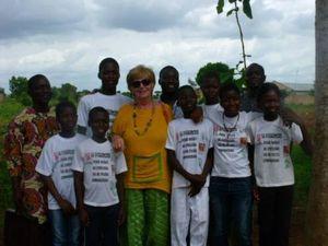 Lucie, stagiaire de SAKADO au Bénin