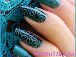Stamping master : turquoise et noir