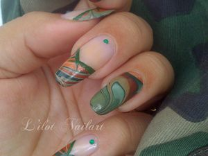 Camouflage water marble