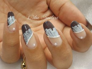 Nail art Drapé