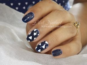 1 vêtement / 1 Nail art_ Nail art triangle