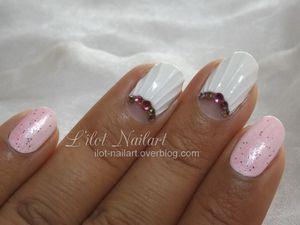 Nail art Coquillage (ou Mariage) !!!