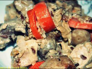 Sauté de porc aux carottes et riz 3 couleurs !