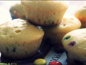 Muffins aux smarties !