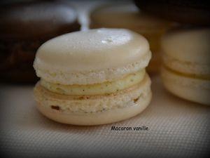 Macarons chocolat au lait et vanille
