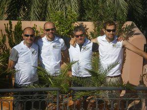 Avec nos vestes finisher en récup' à Marrakech...