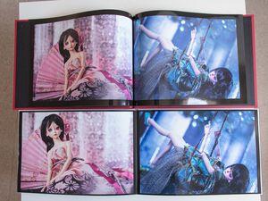 Encore quelques clichés: pour les comparaisons, le livre photobox est celui à la couverture rouges et aux pages un peu bombées.