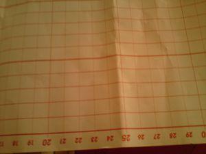 Je me suis munie d'un papier métré pour plus de simplicité acheté au magasin de tissu.