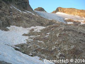 Crête de Montvoisin 2913 mètres. Groupe du Rochail. Oisans ouest.