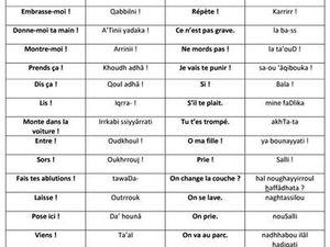 Un peu de vocabulaire pour vous familiarisez avec la langue arabe
