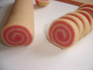 Biscuits escargot vanille, fraise