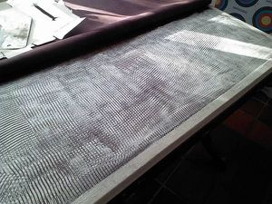 Surface de bureau en cuir
