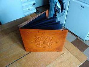 Couverture de carnet à dessin en cuir