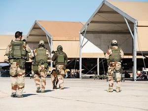 Chammal : exercice de montée en puissance des groupes d'autoprotection