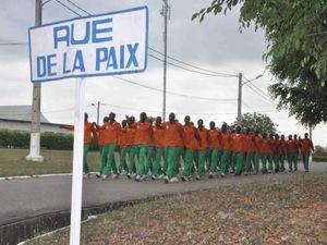 Côte d'Ivoire : visite du COMFOR des FFCI à l'école de formation des officiers des armées ivoiriennes