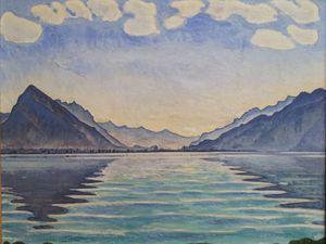 Ferdinand Hodler, Le Lac de Thoune aux reflets symétriques, 1904 et 1905