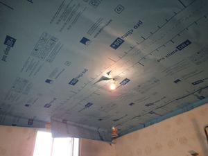 Isolation du plafond du bureau