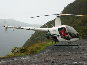 Décolage d'un hélicoptère au Col des Boeufs