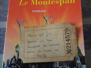 Loin de la ville en flammes de Morpurgo (parce Manika aime cet auteur), et Le Montespan de Teulé (son coup de coeur en 2013)