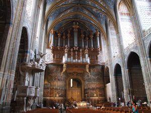 Les peintures intérieures de la cathédrale Sainte- Cécile d'Albi