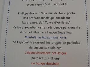 N'oubliona pas que Philippe est aussi professeur de Terre d'artistes.
