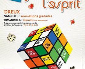 Jeux sous tente Grande Rue - Epreuves de dictée et de Quiz sur l'Agglomération Drouaise dans la superbe salle de l'Ecole St Martin.
