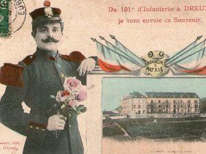 Casernement du 101) à la caserne de Billy à Dreux---N'oubliez pas de cliquer sur les vignettes pour découvrir les cartes postales en entier.