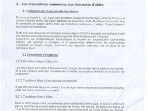 CCAS aides facultatives, la misére.