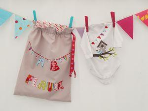 Sacs à jouets, plaques de porte, guirlandes, sacs à linge pour les enfants