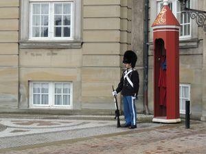 Garde du palais royal à Copenhague